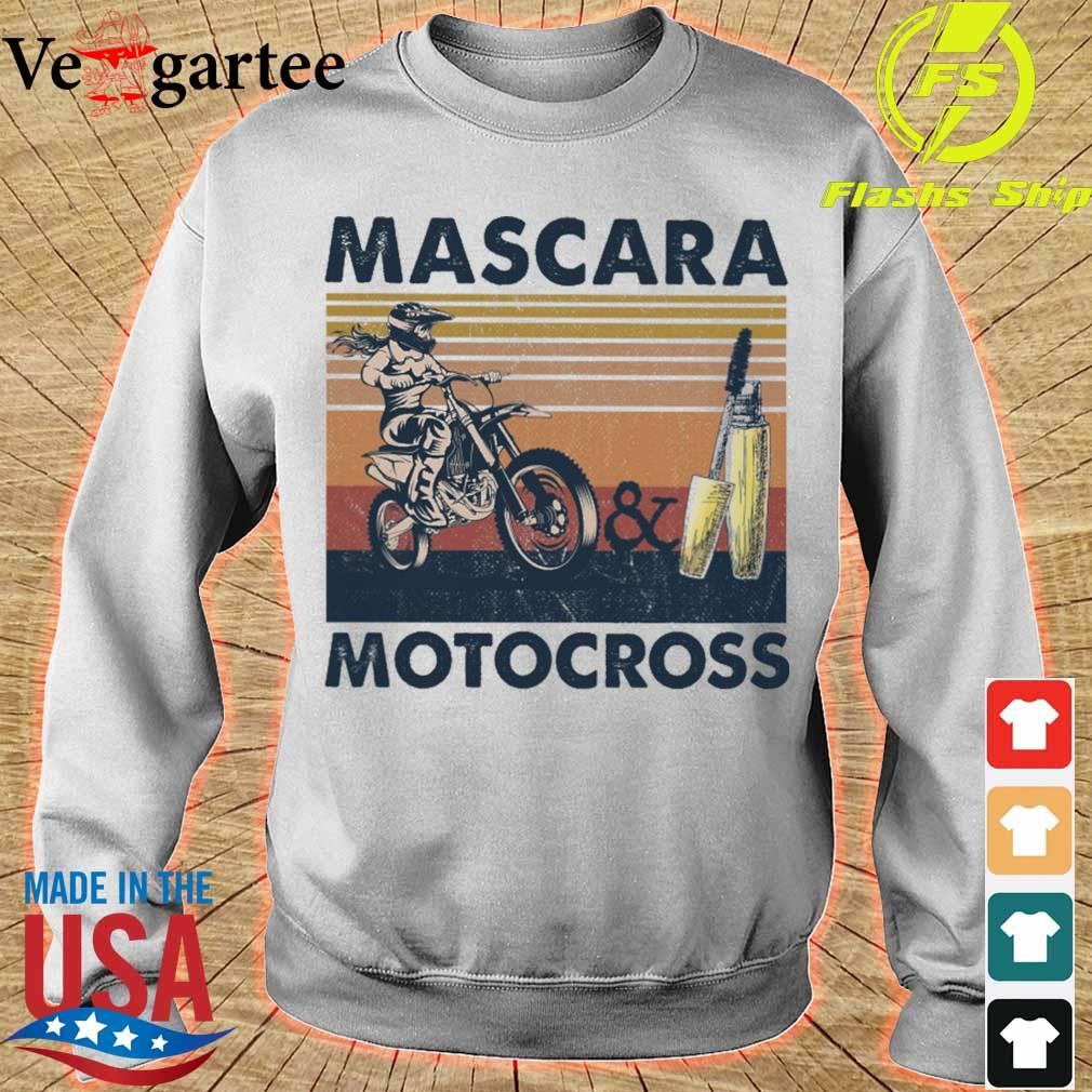 Mascara and Motocross vintage s sweater