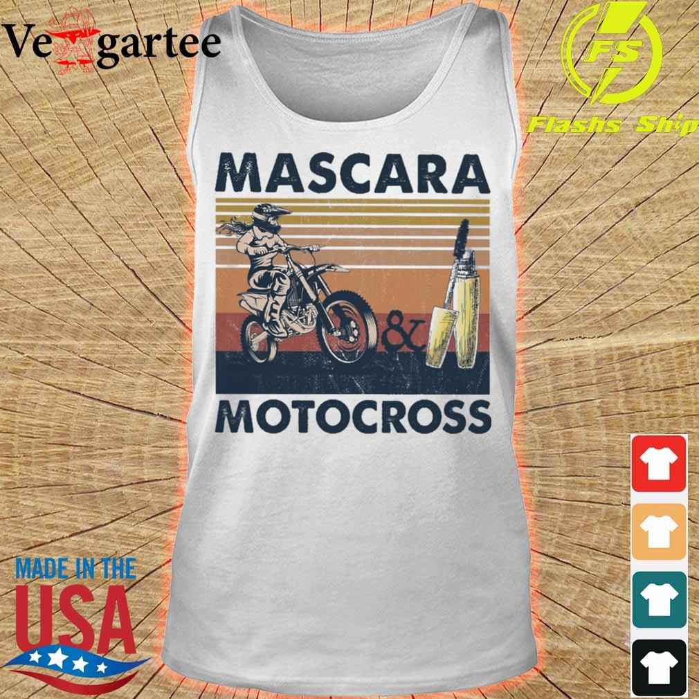 Mascara and Motocross vintage s tank top