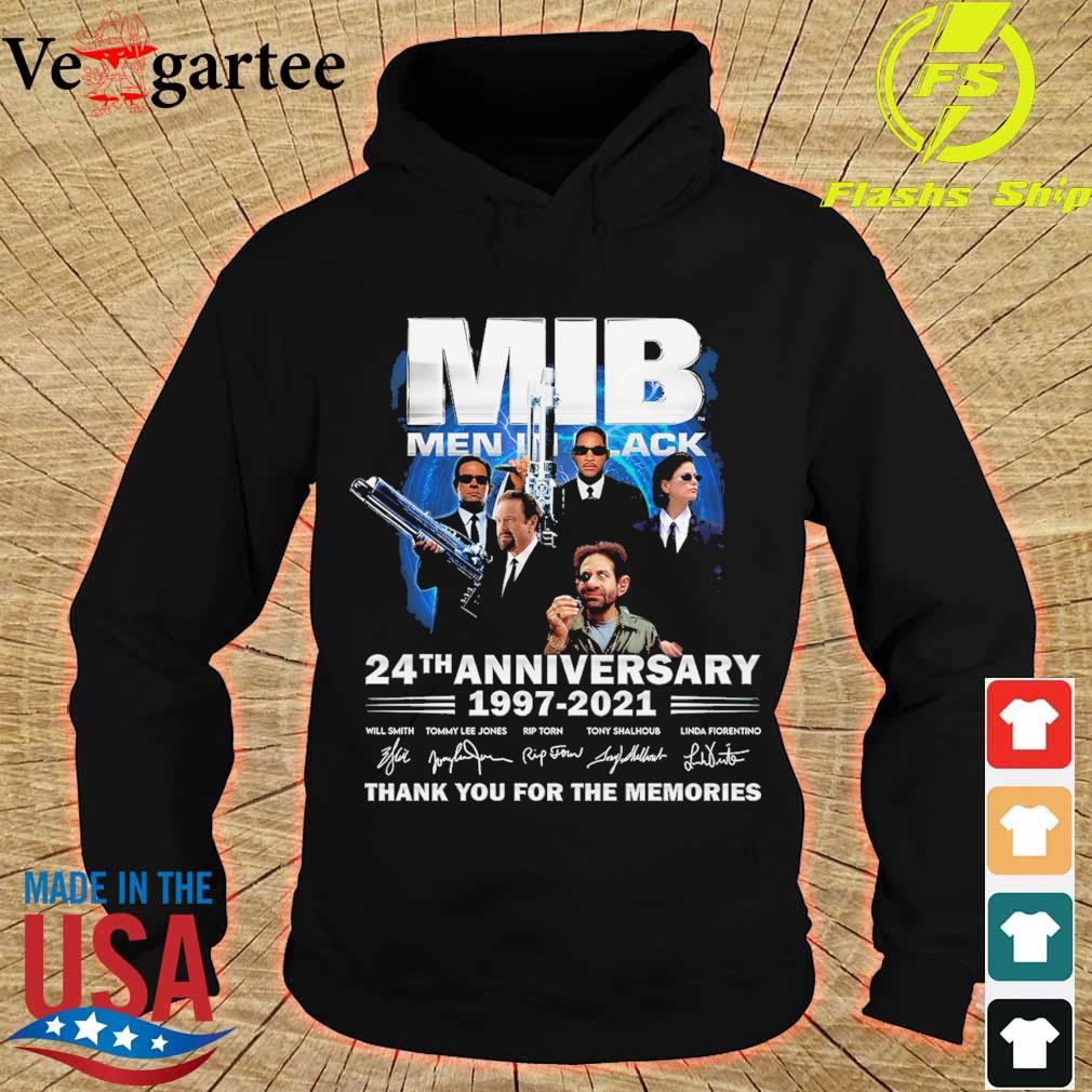 MIB Men In Black 24th anniversary 1997 2021 thank You for the memories signatures s hoodie