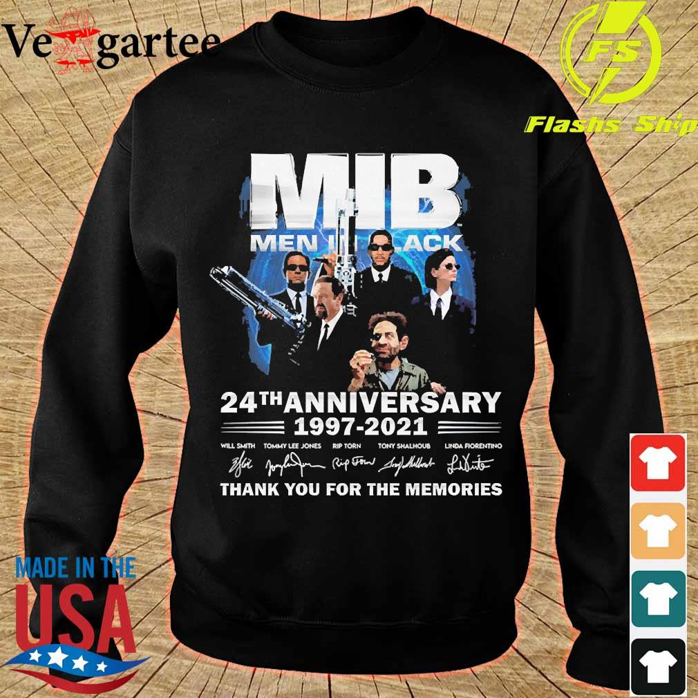 MIB Men In Black 24th anniversary 1997 2021 thank You for the memories signatures s sweater