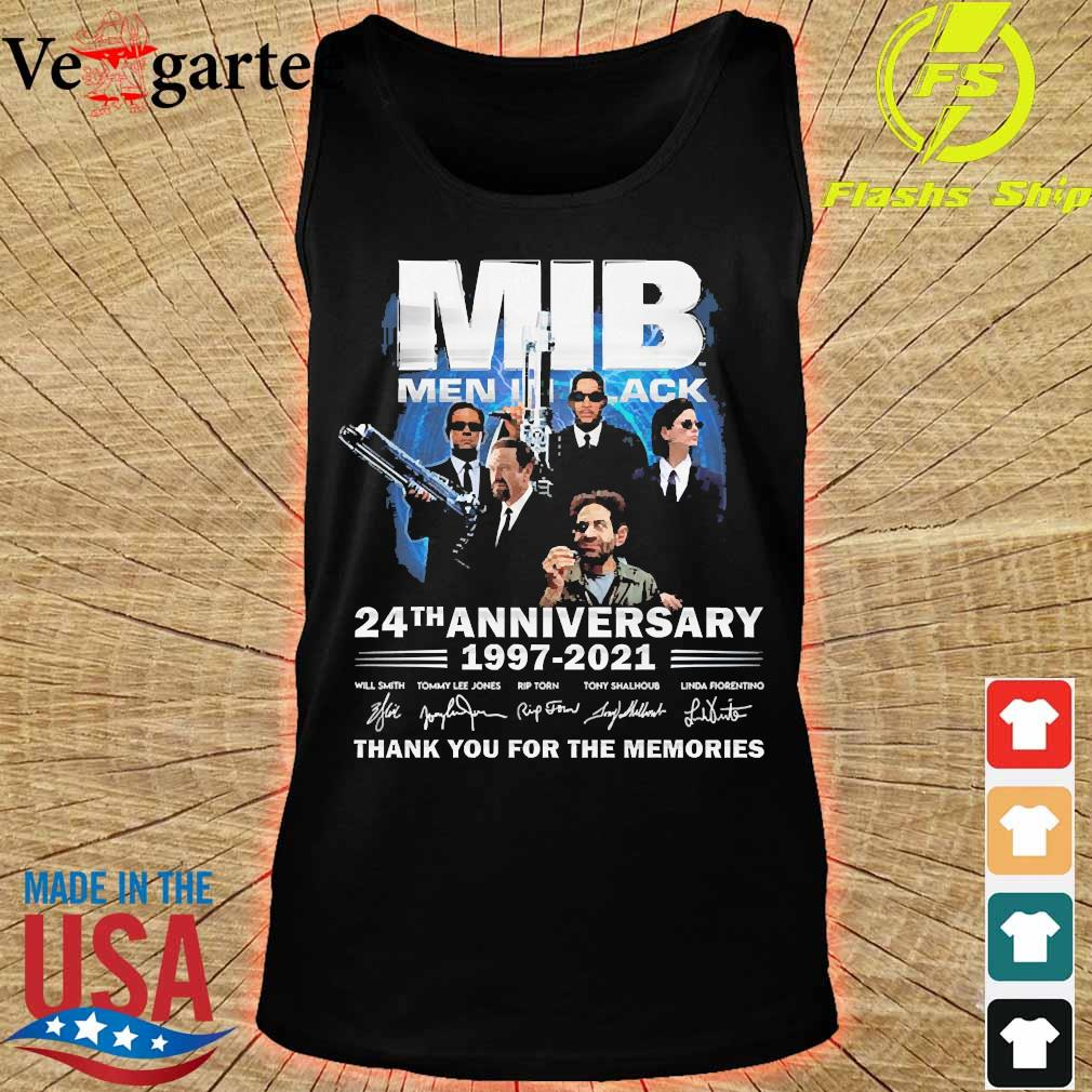 MIB Men In Black 24th anniversary 1997 2021 thank You for the memories signatures s tank top