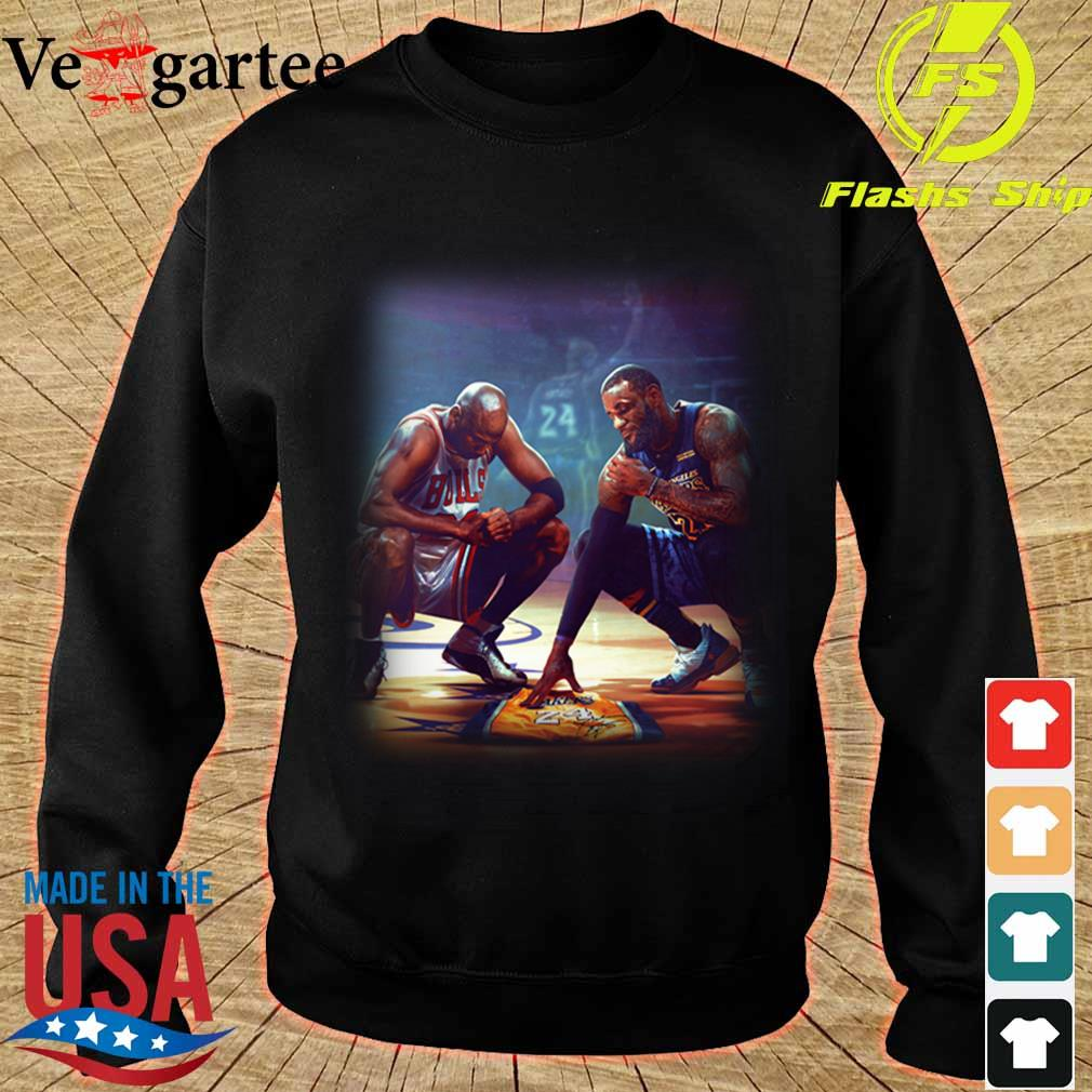 Michael Jordan Lebron James RIP Kobe Bryant s sweater