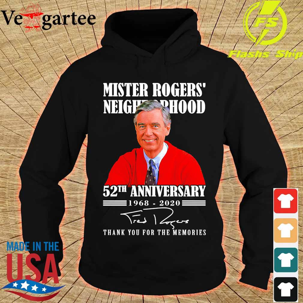 Mister Rogers neighborhood 52th anniversary 1968 2020 thank You for the memories signature s hoodie