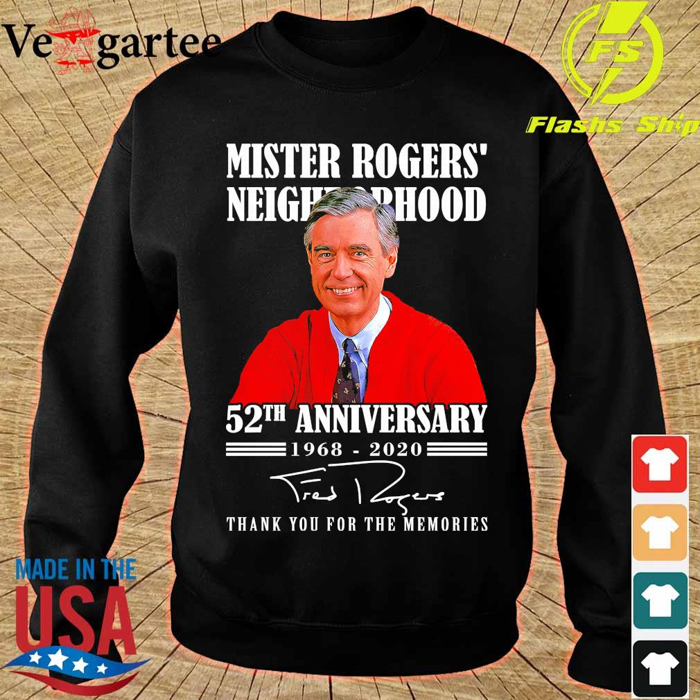 Mister Rogers neighborhood 52th anniversary 1968 2020 thank You for the memories signature s sweater