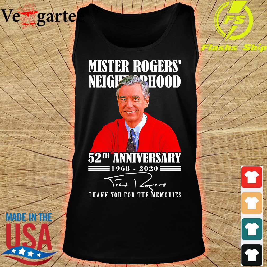 Mister Rogers neighborhood 52th anniversary 1968 2020 thank You for the memories signature s tank top