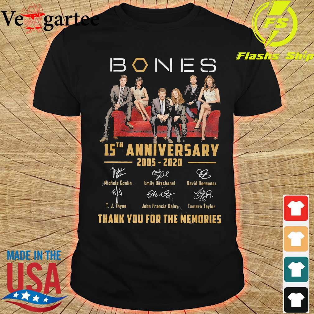 Mones 15th anniversary 2005 2020 thank You for the memories signatures shirt