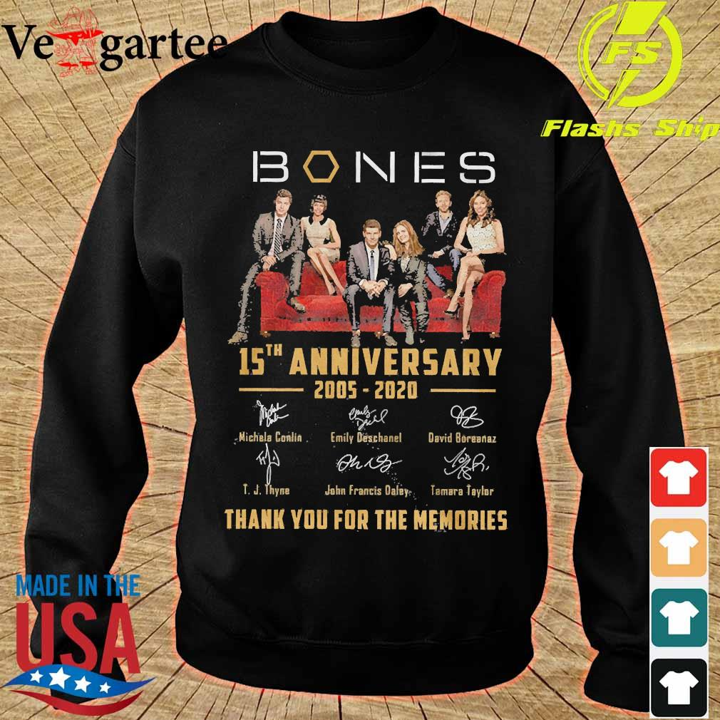 Mones 15th anniversary 2005 2020 thank You for the memories signatures s sweater