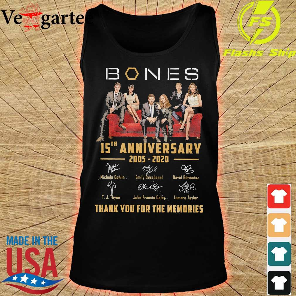 Mones 15th anniversary 2005 2020 thank You for the memories signatures s tank top