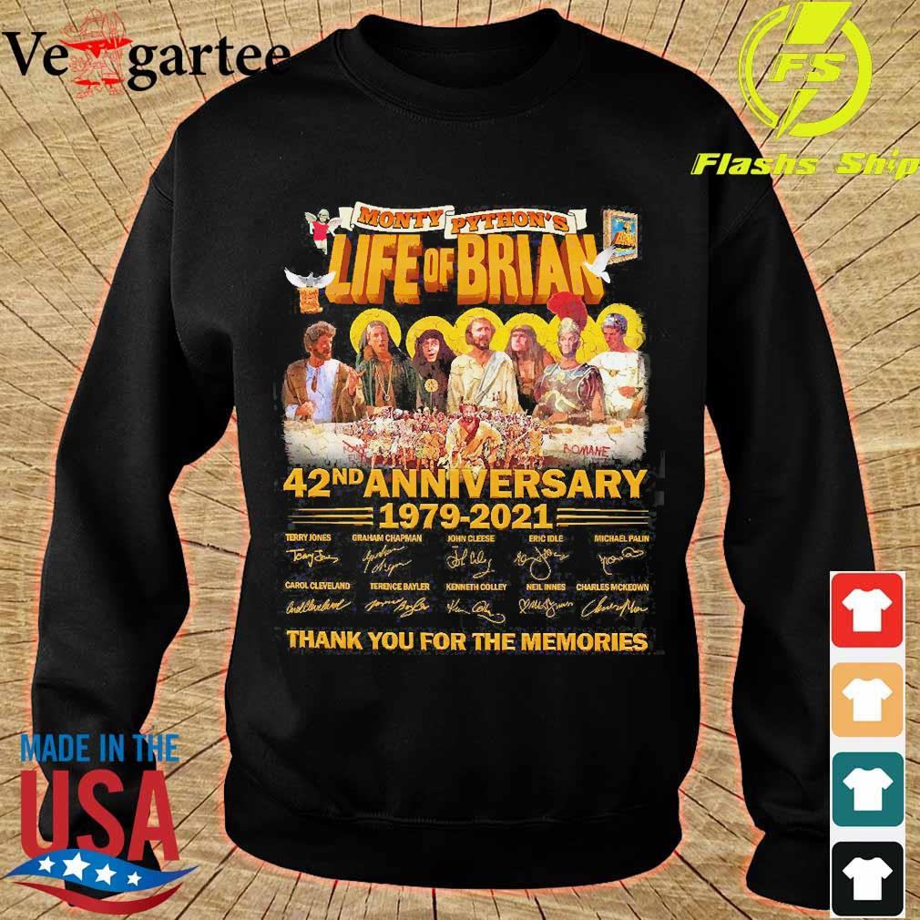 Monty Python's Life of Brian 42nd anniversary 1979 2021 thank You for the memories signatures s sweater