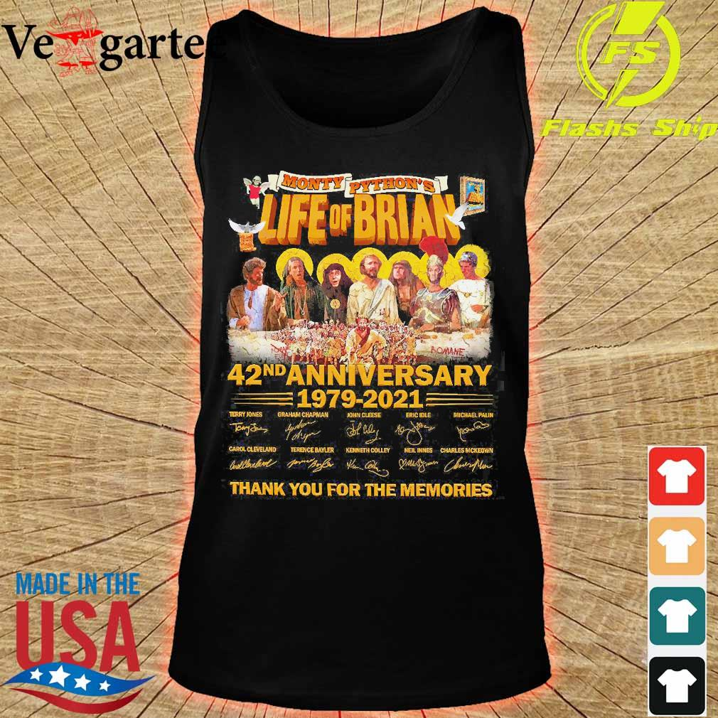 Monty Python's Life of Brian 42nd anniversary 1979 2021 thank You for the memories signatures s tank top