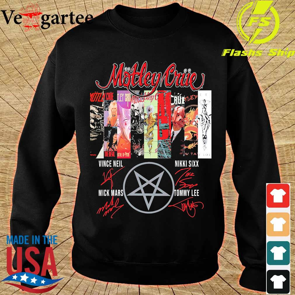 Motley Crue band member signatures s sweater
