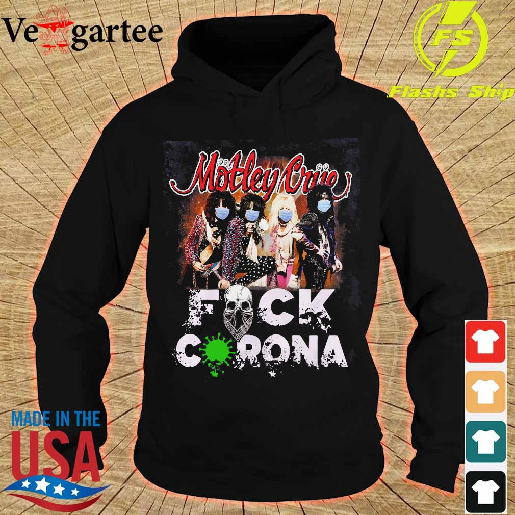 Motley Crue band members face mask fuck corona s hoodie