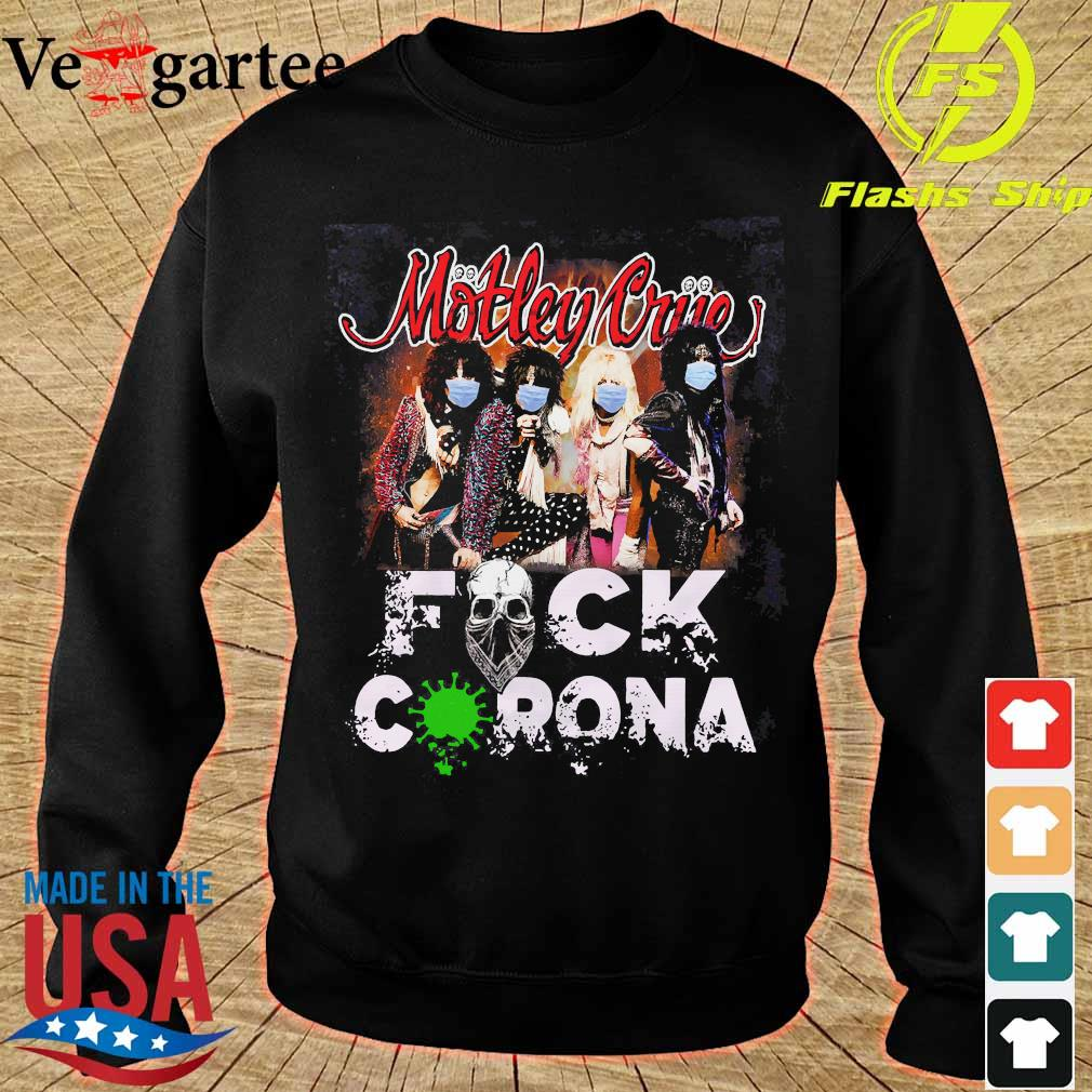 Motley Crue band members face mask fuck corona s sweater