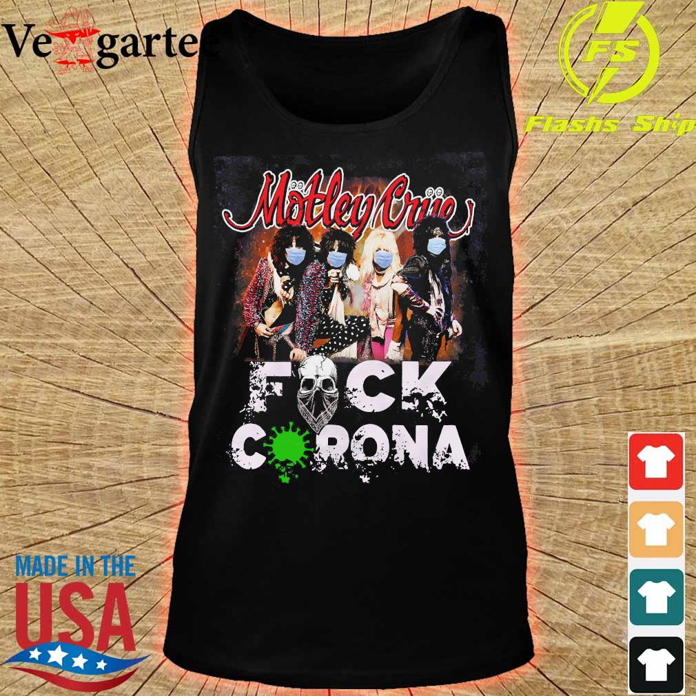 Motley Crue band members face mask fuck corona s tank top