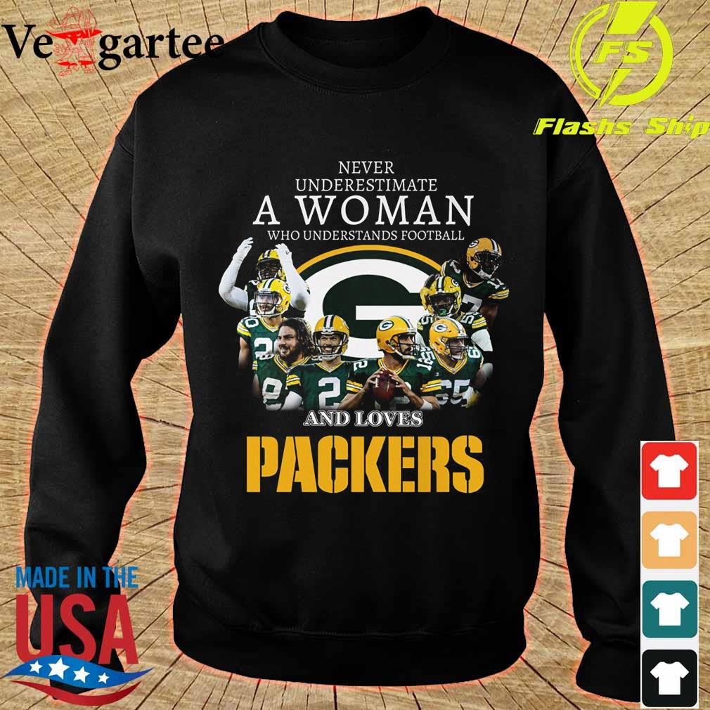 Never underestimate a woman who understands football and loves Packers s sweater