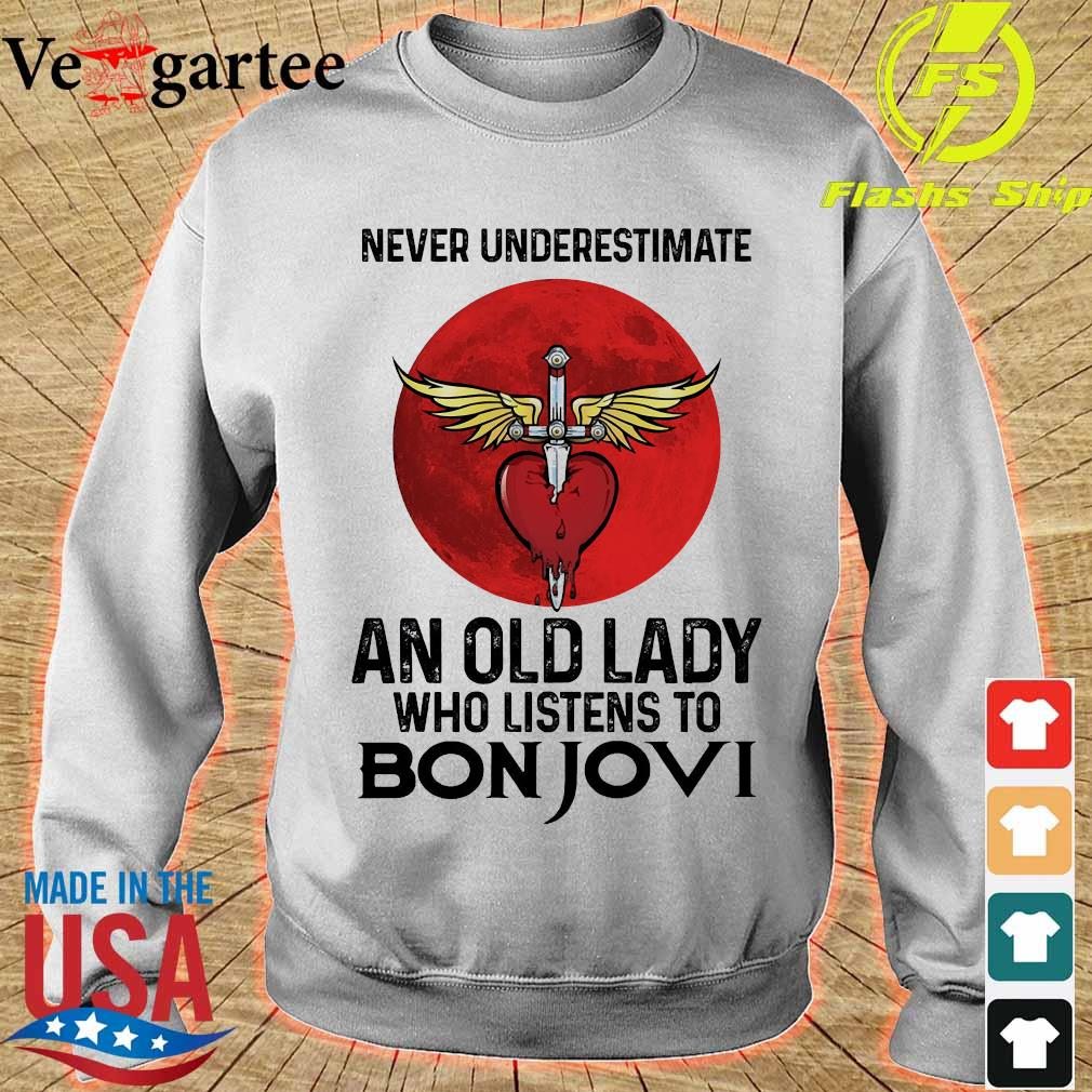 Never underestimate an old lady who listens to Bon Jovi s sweater