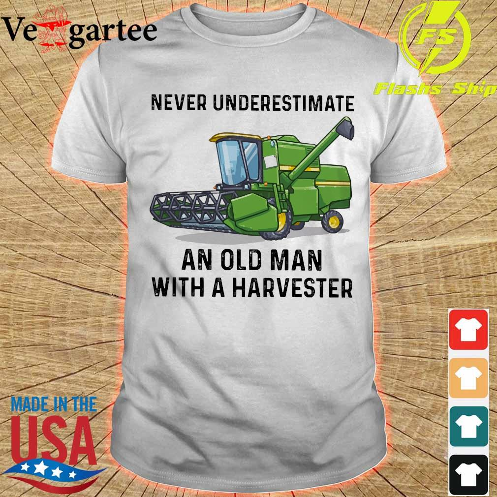 Never underestimate an old man with a Harvester shirt