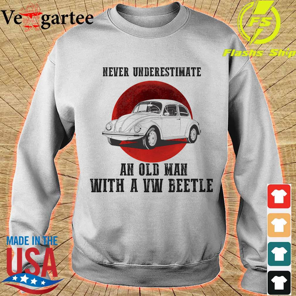 Never underestimate an old man with a VW beetle s sweater