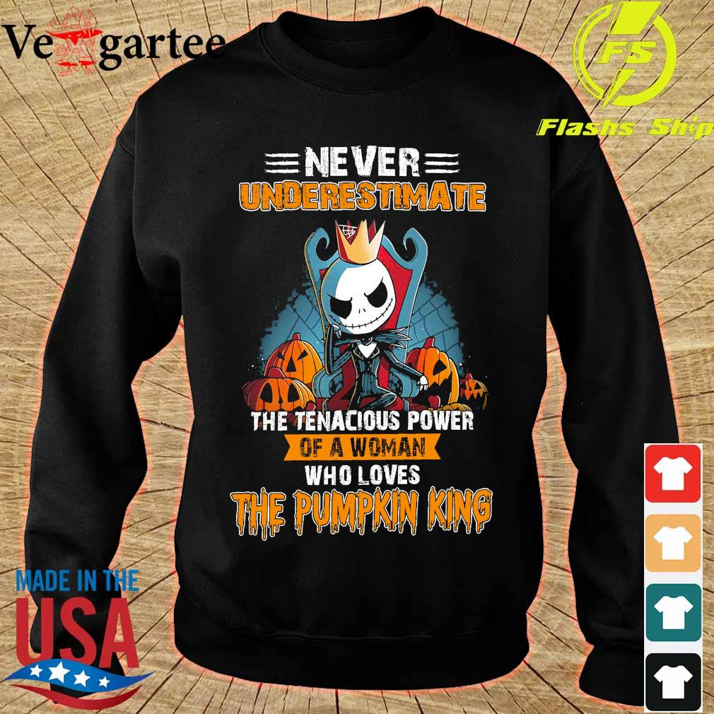 Never underestimate the tenacious power of a woman who loves the Pumpkin King s sweater