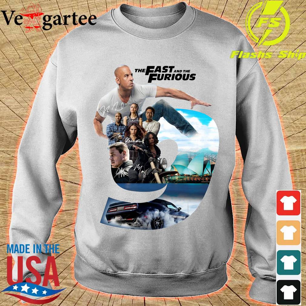 Nice the Fast and the Furious 9 signatures s sweater
