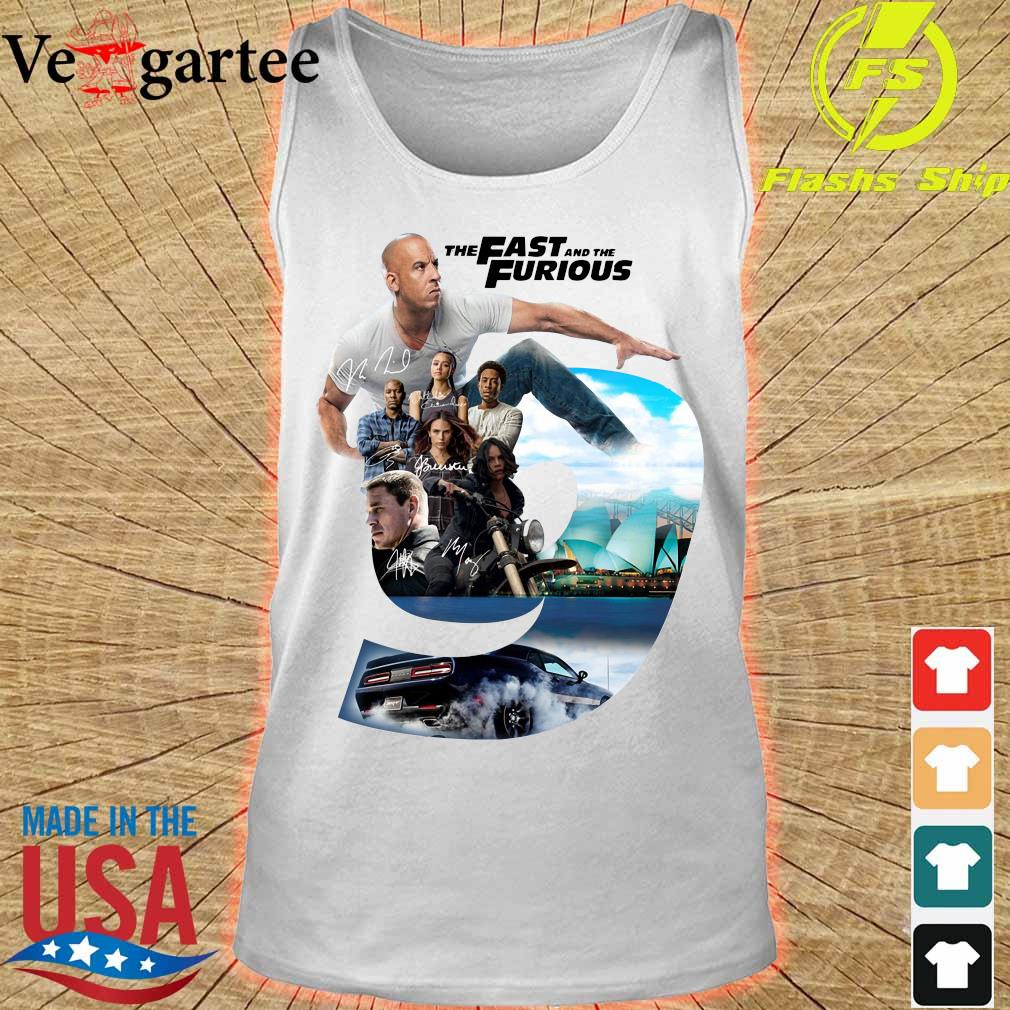 Nice the Fast and the Furious 9 signatures s tank top