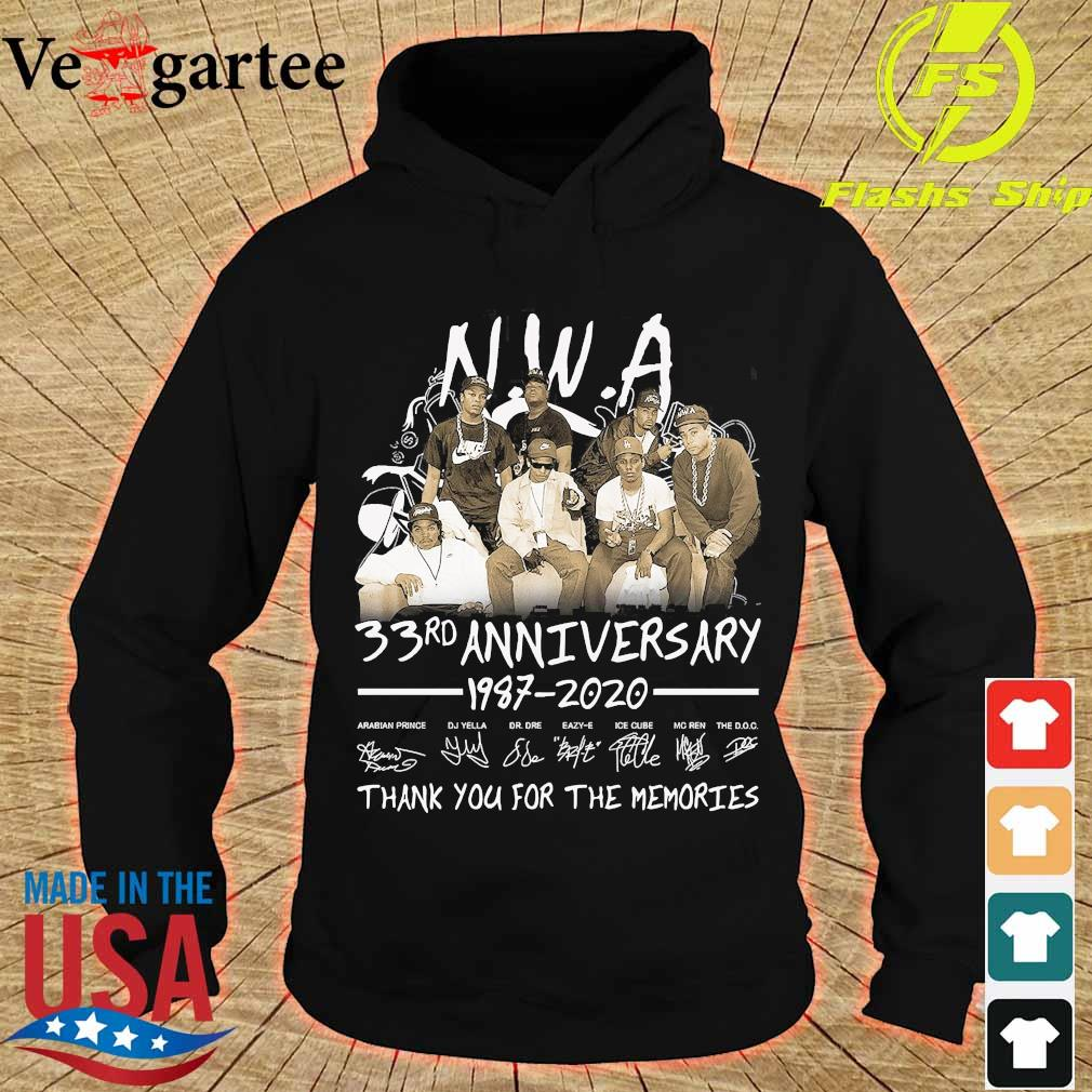 NWA 33rd anniversary 1987 2020 thank You for the memories s hoodie