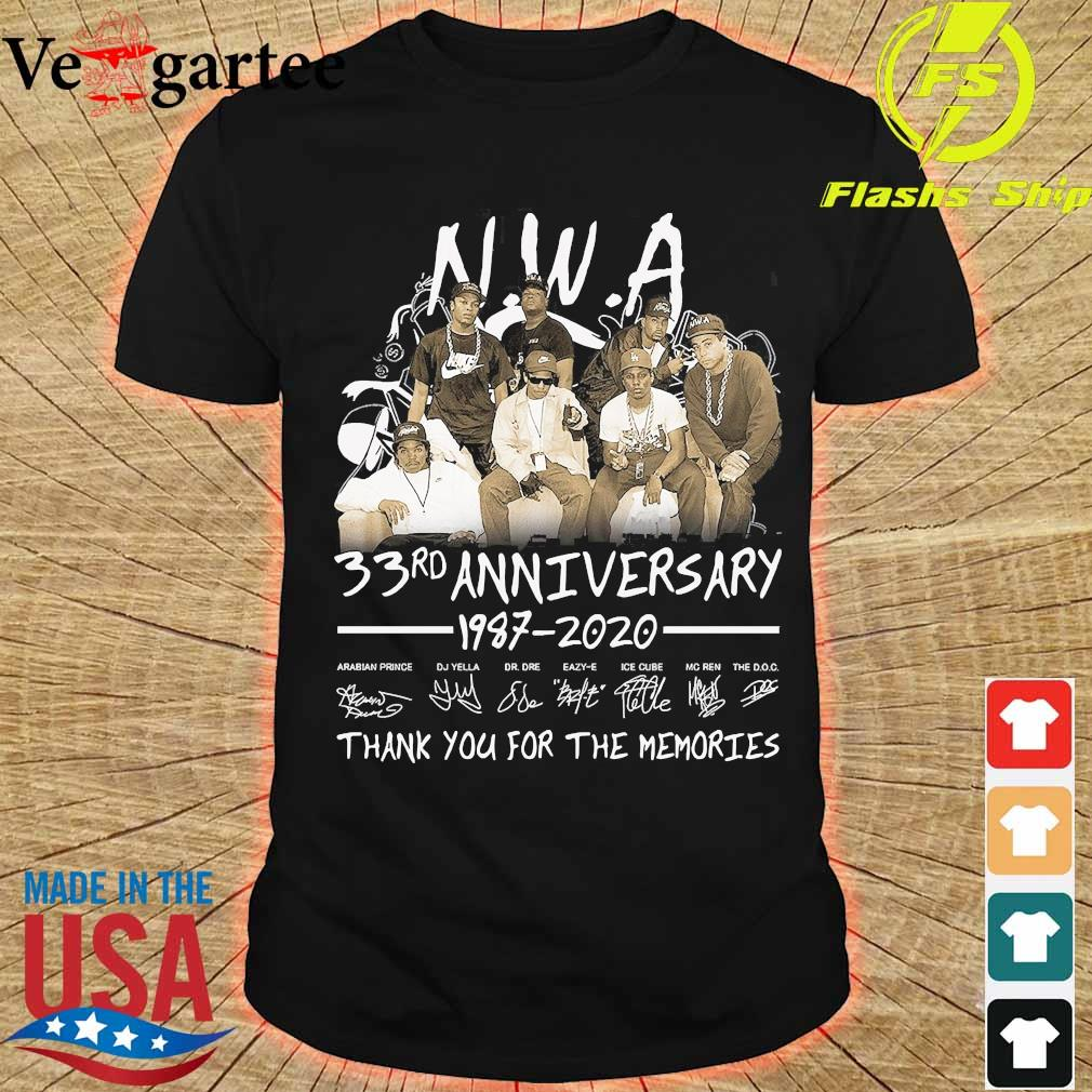 NWA 33rd anniversary 1987 2020 thank You for the memories shirt