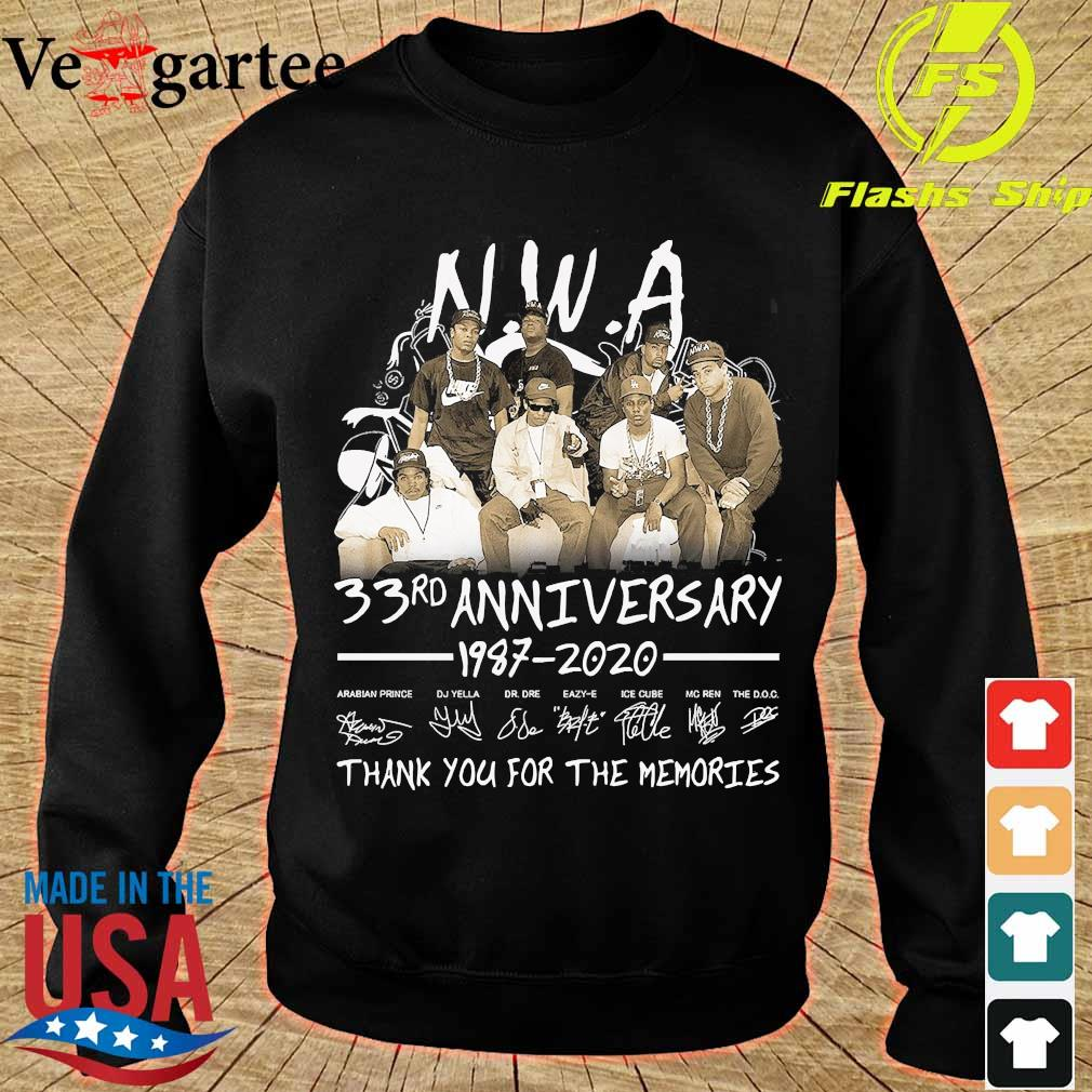NWA 33rd anniversary 1987 2020 thank You for the memories s sweater