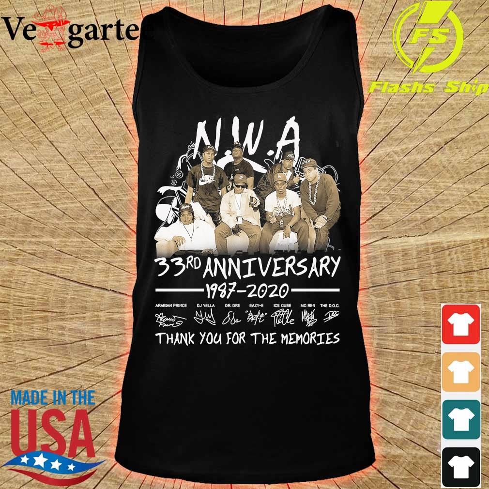 NWA 33rd anniversary 1987 2020 thank You for the memories s tank top