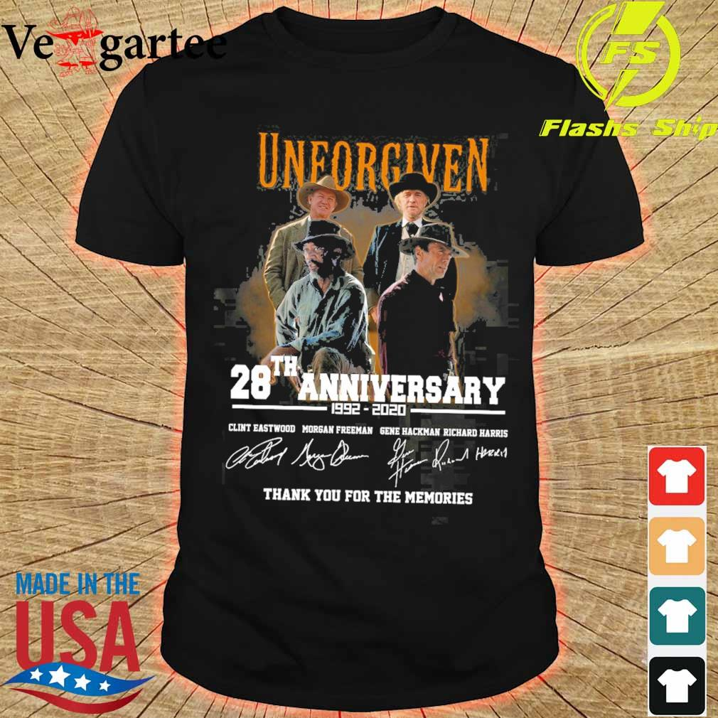 Official Unforgiven 28th anniversary 1992 2020 signatures shirt