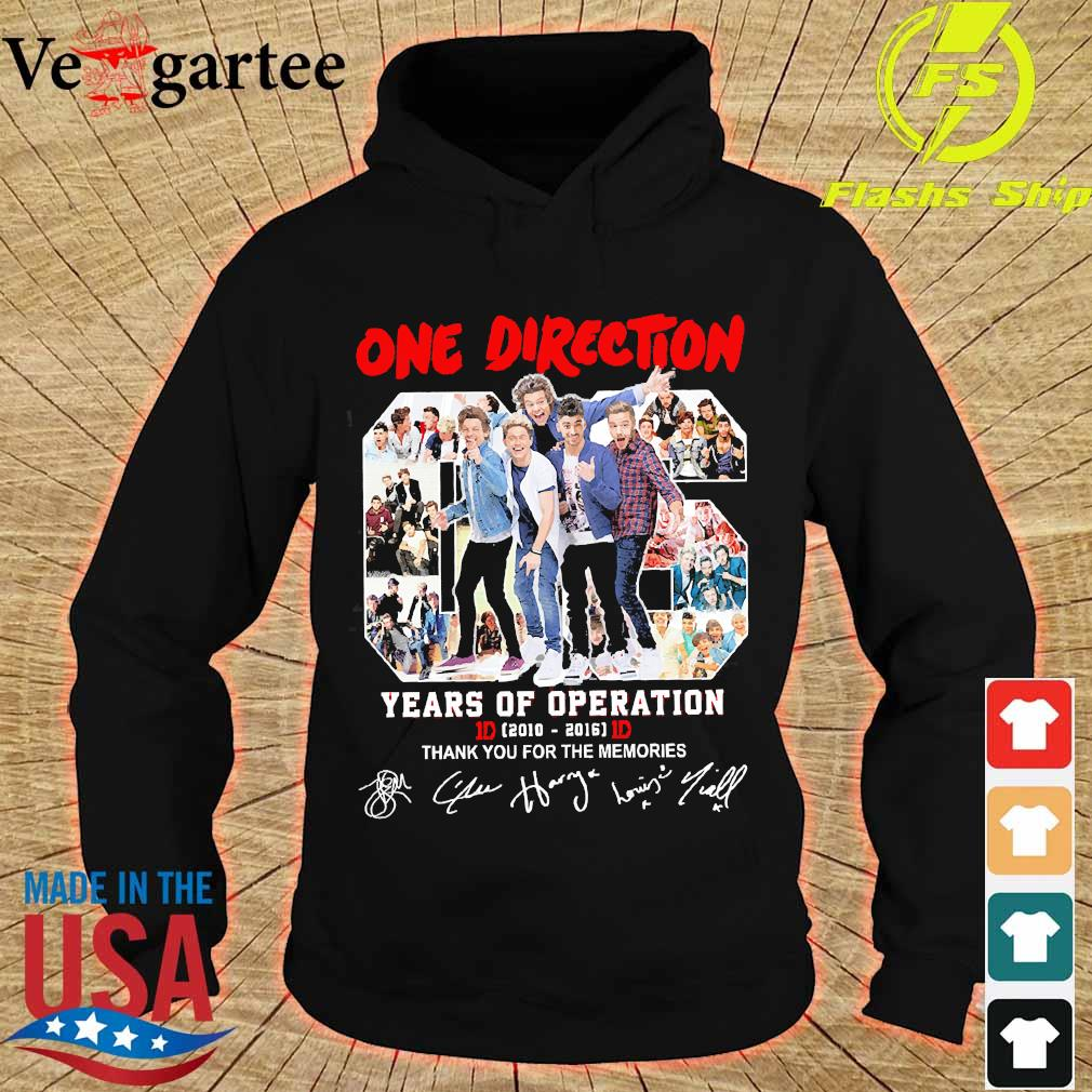 One Direction 06 years of operation 2010 2016 thank You for the memories s hoodie