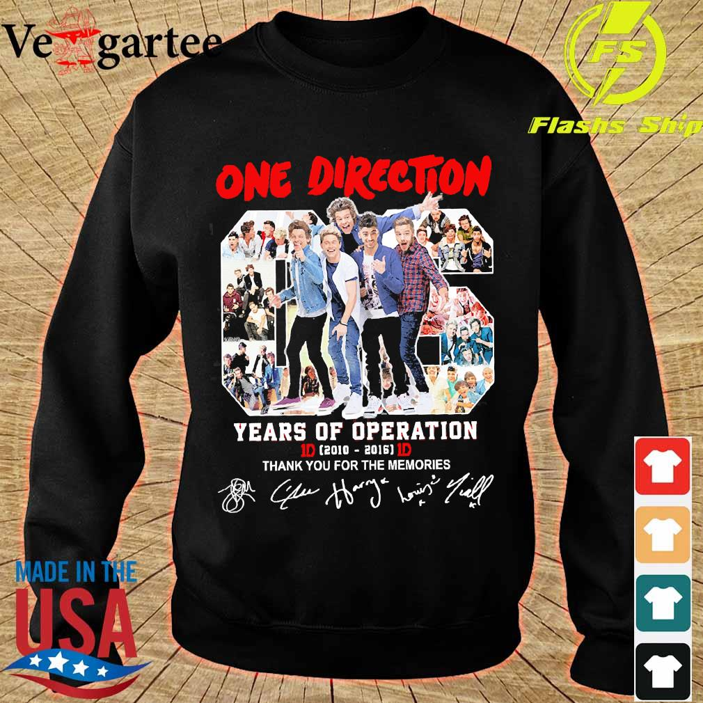 One Direction 06 years of operation 2010 2016 thank You for the memories s sweater
