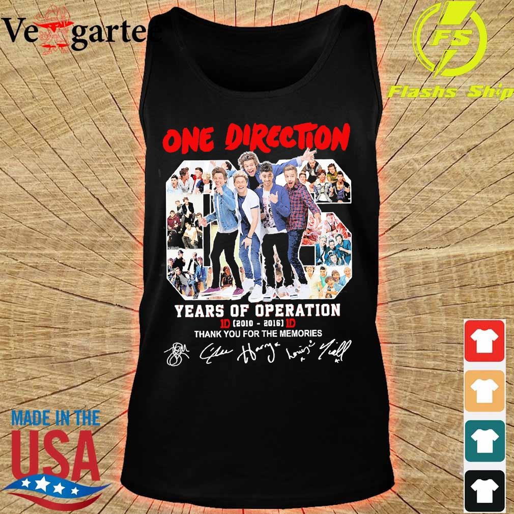 One Direction 06 years of operation 2010 2016 thank You for the memories s tank top