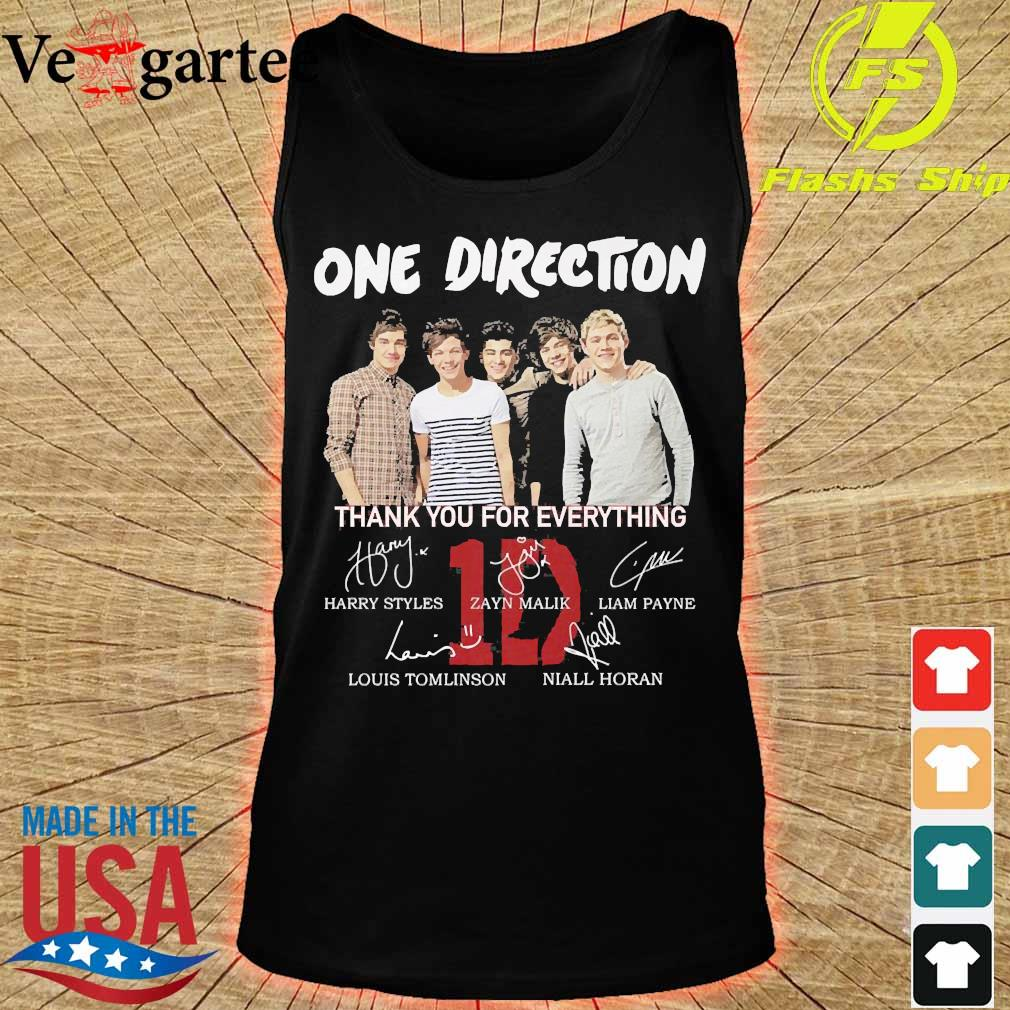 One Direction thank You for everything signatures s tank top