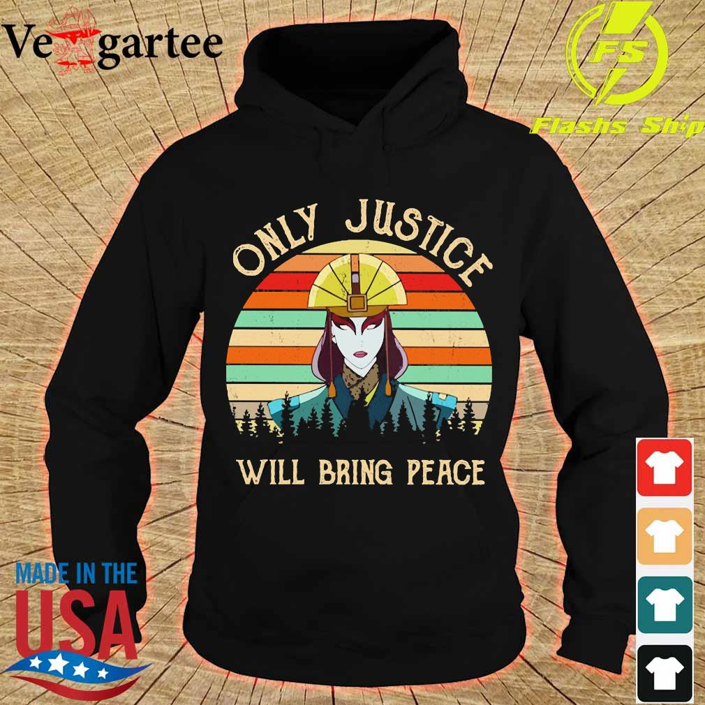 Only justice will bring peace vintage s hoodie