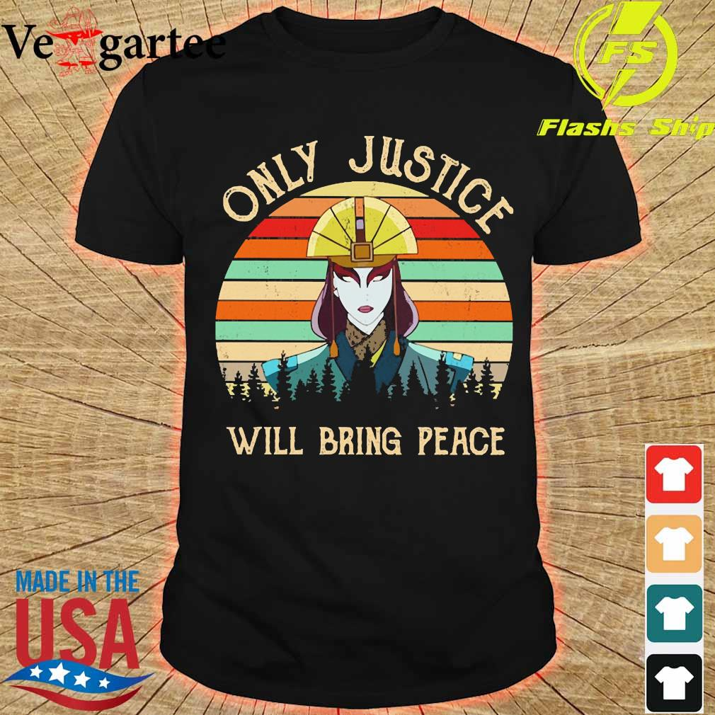 Only justice will bring peace vintage shirt