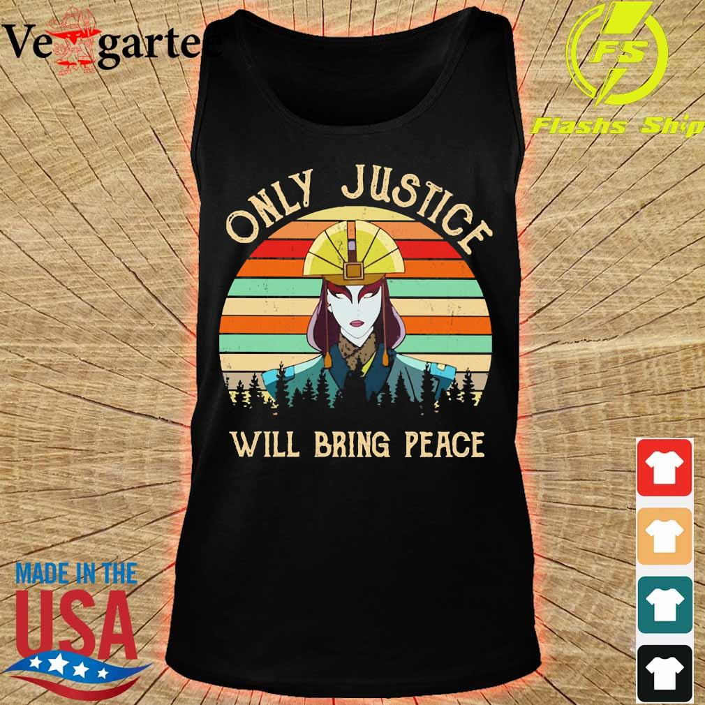 Only justice will bring peace vintage s tank top