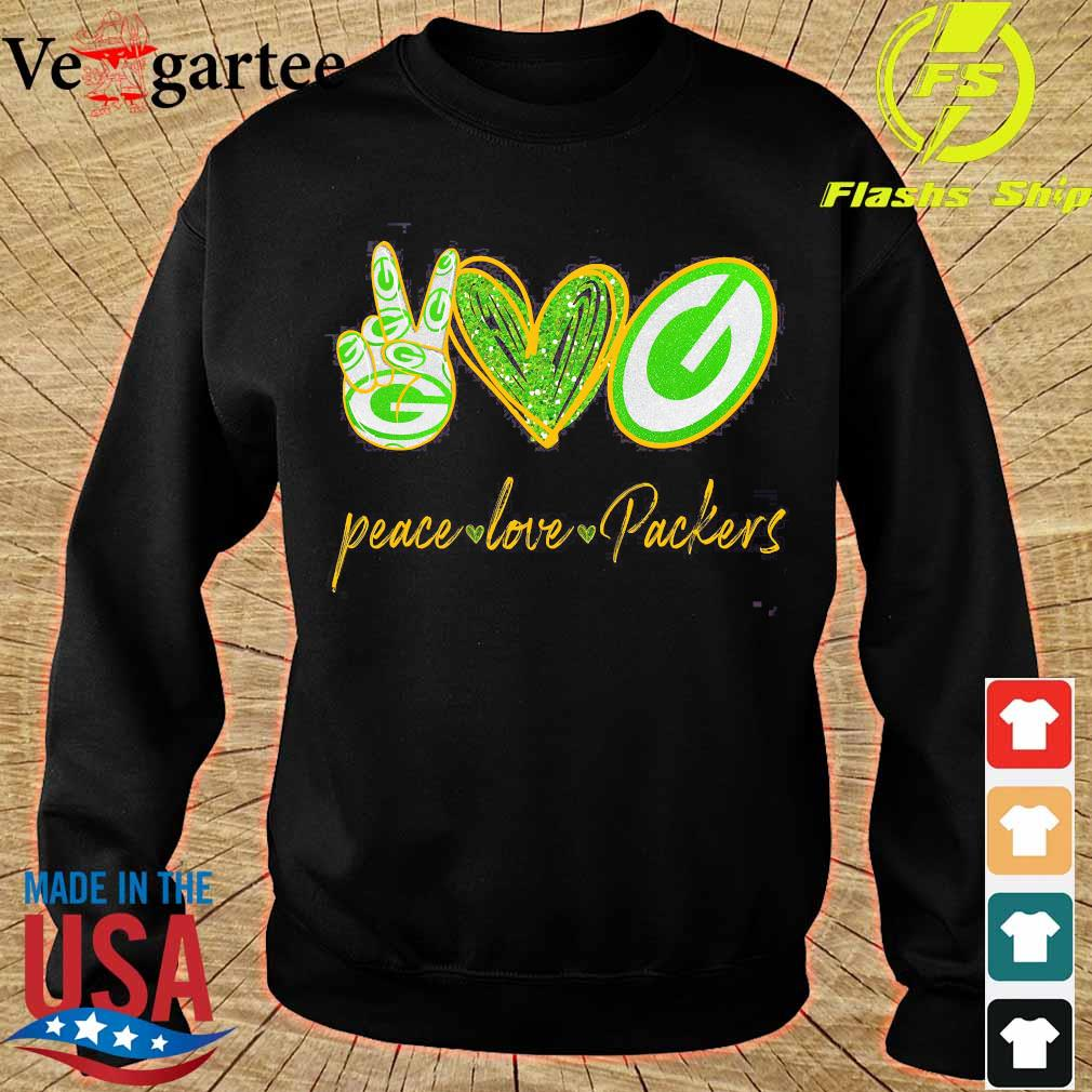 Peace love Packers s sweater