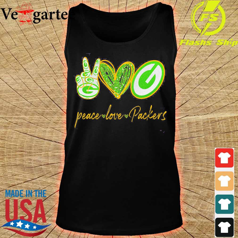 Peace love Packers s tank top