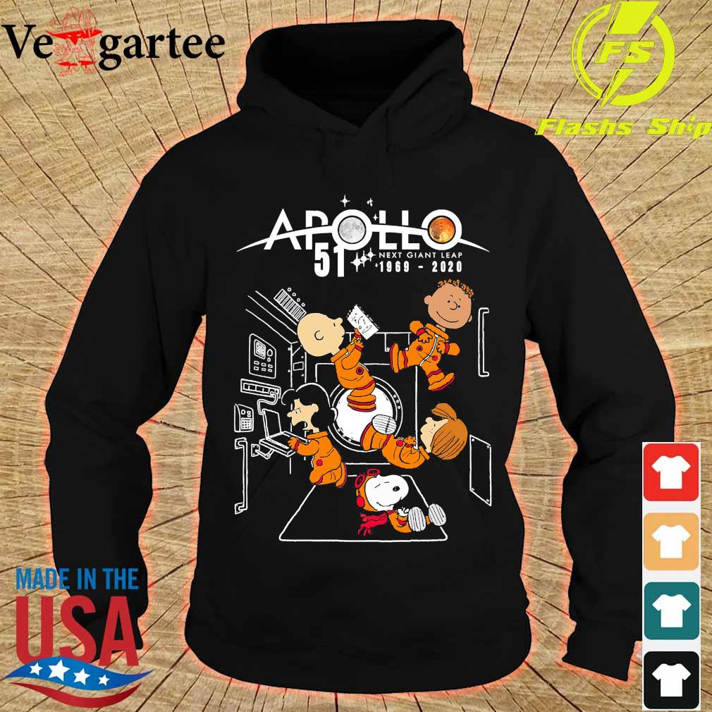 Peanuts character Apollo 51 next giant leap 1969 2020 s hoodie