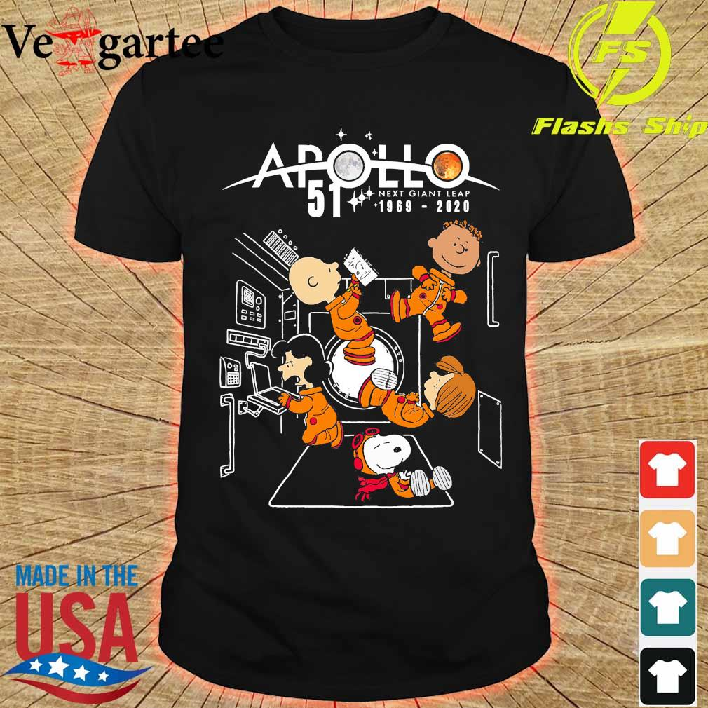 Peanuts character Apollo 51 next giant leap 1969 2020 shirt