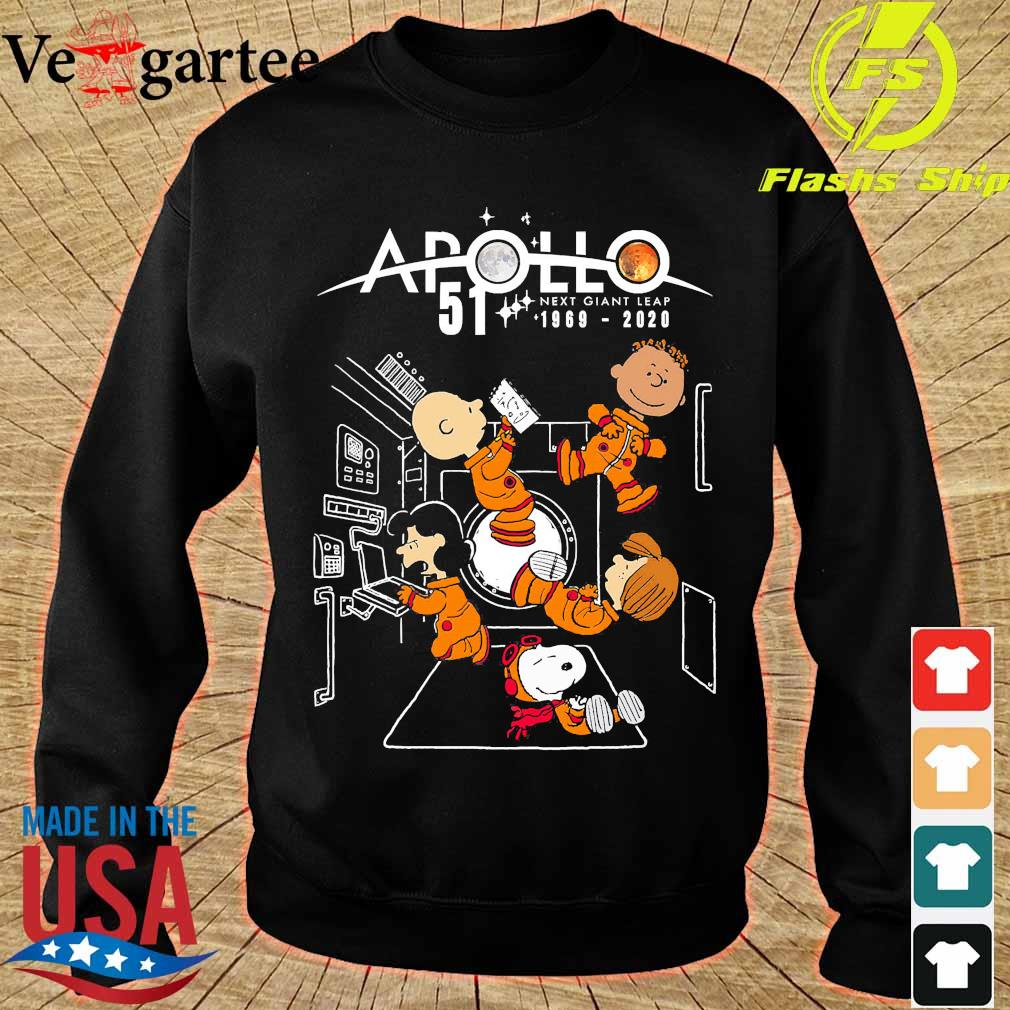 Peanuts character Apollo 51 next giant leap 1969 2020 s sweater