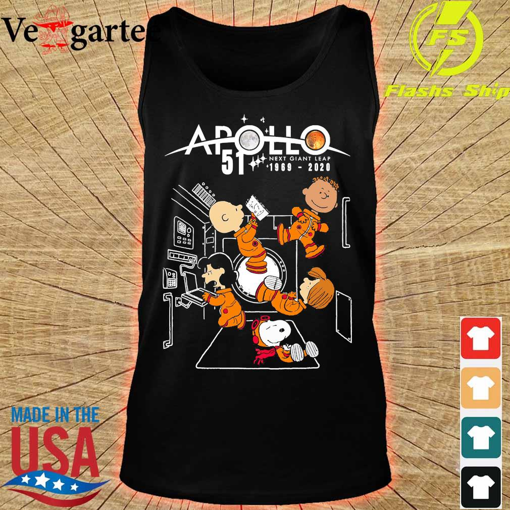 Peanuts character Apollo 51 next giant leap 1969 2020 s tank top