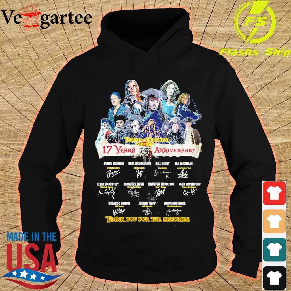 Pirates Caribbean 2003 2020 17 Years anniversary thank You for the memories signature s hoodie