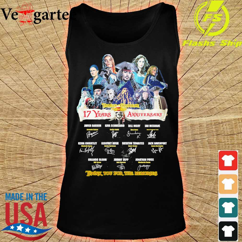 Pirates Caribbean 2003 2020 17 Years anniversary thank You for the memories signature s tank top