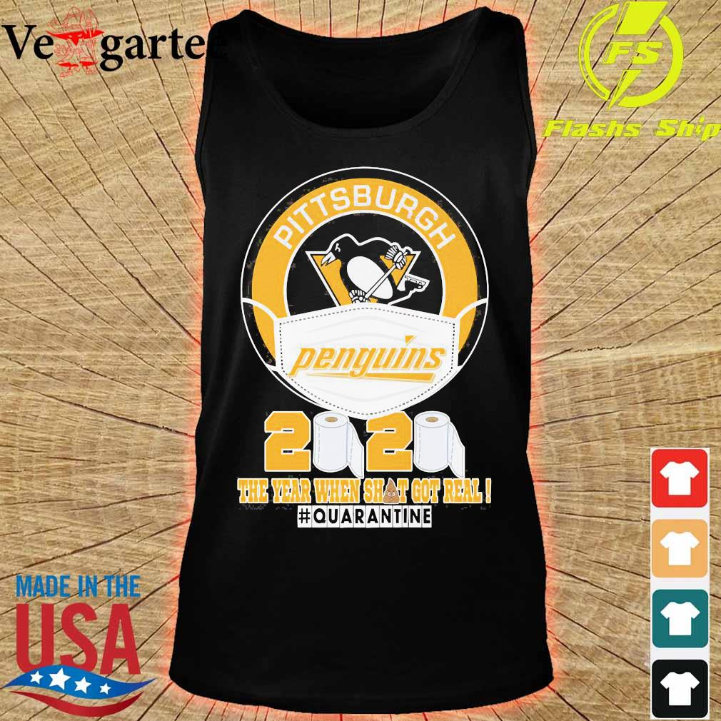 Pittsburgh Penguins face mask 2020 the Year when shit got real quarantine s tank top