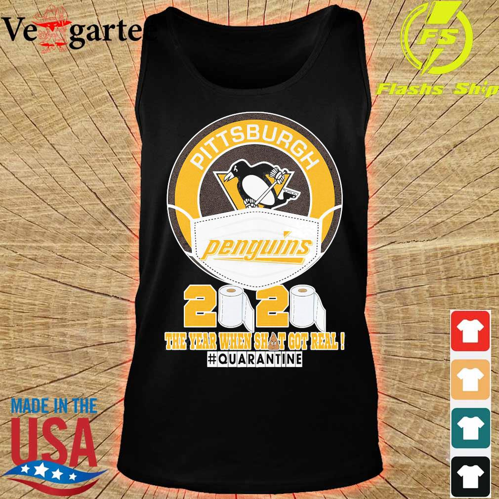 Pittsburgh Penguins hockey mask 2020 the year when shit got real quarantine s tank top