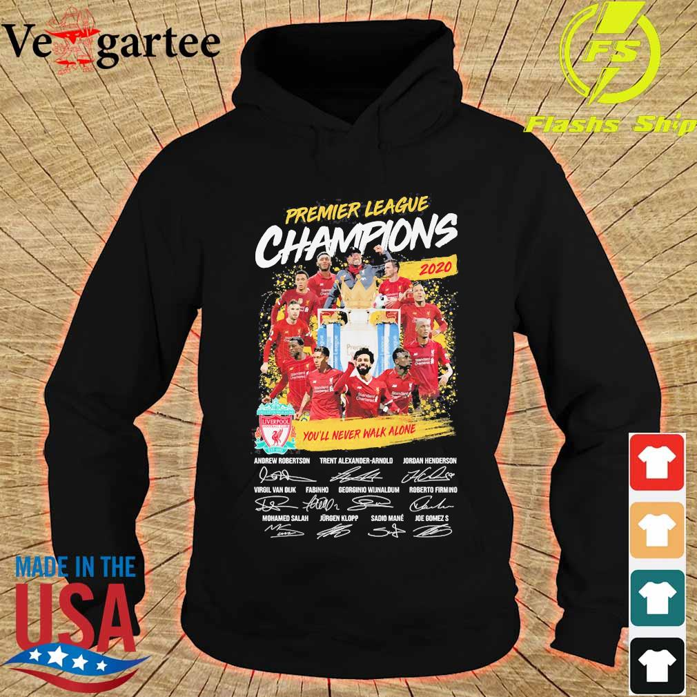 Premier league champions 2020 You'll never walk alone players signatures s hoodie