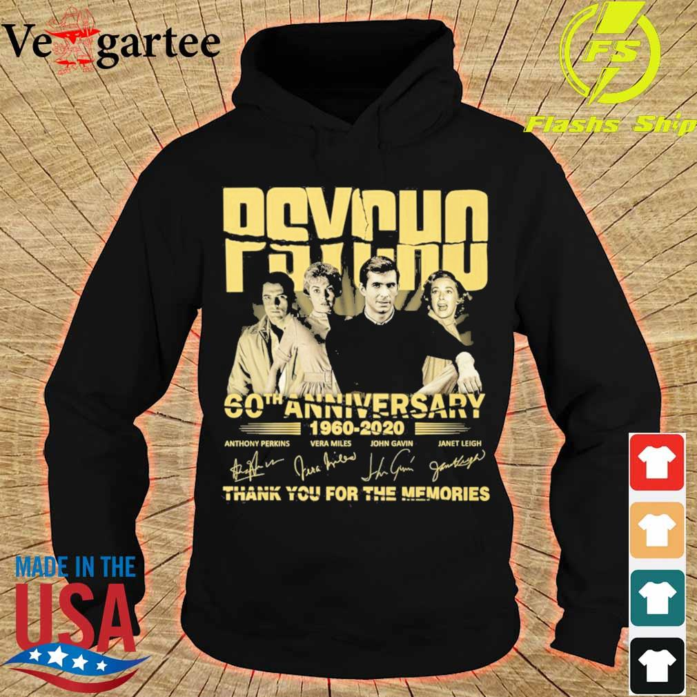 PSYCHO 60th anniversary 1960 2020 thank you for the memories signature s hoodie