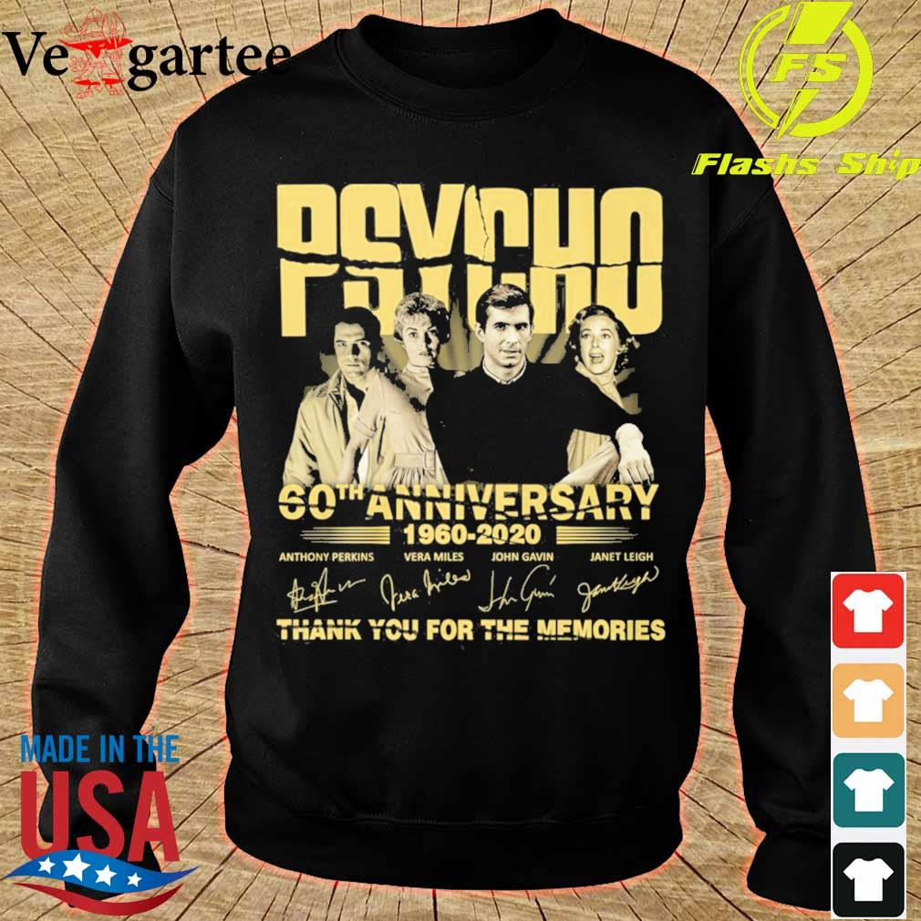 PSYCHO 60th anniversary 1960 2020 thank you for the memories signature s sweater
